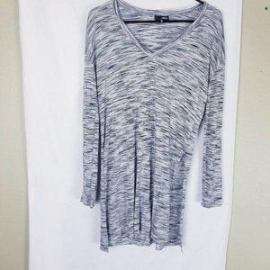 Wilfred Free Aritzia Marled Gray Long Tunic Top